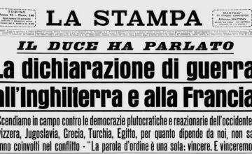 La guerra di Mussolini, la tragedia dell'Italia: a ottant'anni dal 10 giugno 1940